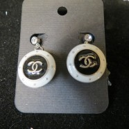 Chanel vintage button pierced earrings – $100 pair