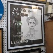 Vintage mid-century modern Marcel Marceau autographed Chicago poster – $185