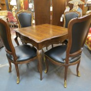 Vintage antique 5 piece French style dining table and 4 chairs – $895 set