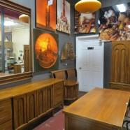 Vintage mid-century modern dark walnut 5 piece bedroom set – $1200