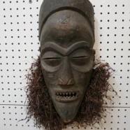 SALE! Vintage antique carved wood African Chokwe mask – $295