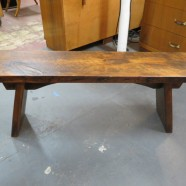 Vintage reclaimed wood bench – $260