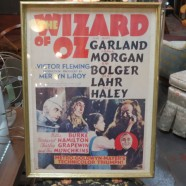 Vintage antique Wizard of Oz framed movie poster – $75