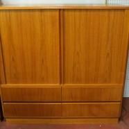 Vintage Danish modern teak 2 door large cabinet – $795