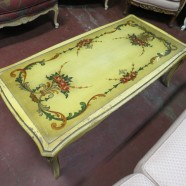 Vintage antique shabby chic French style coffee table – $125
