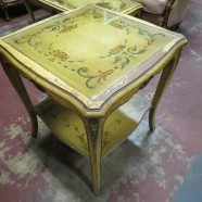 Vintage antique shabby chic French style side table – $65