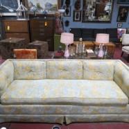 SALE! Vintage mid-century modern Tomlinson even arm sofa – $210