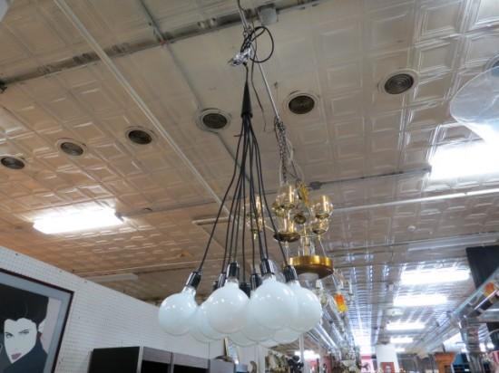 Vintage 10 globe lights hanging fixture – $245