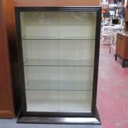 Vintage mid-century modern Paul Frankl sliding glass display cabinet – $395