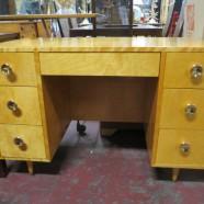 Vintage mid-century modern 7 drawer desk – $145