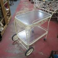 SALE! Vintage antique wrought iron bar cart – $95