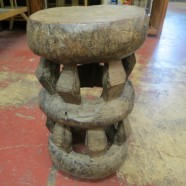 Vintage antique carved African Zimbabwe Tonga stool – $695