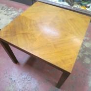 Vintage mid-century modern Lane walnut side table – $125