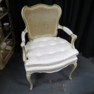 Vintage antique French style bergere arm chair – $129