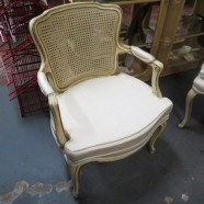 Vintage antique French style bergere arm chair – $120