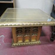 SALE! Vintage antique gold gilt table – $180