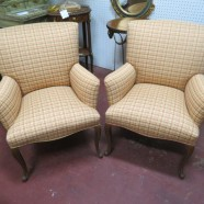Vintage antique pair of French style arm chairs – $450 pair
