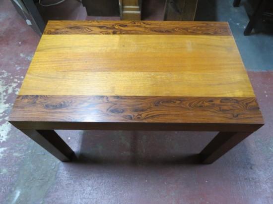 SALE! Vintage Danish modern Dyrlund rosewood and teak side table – $250