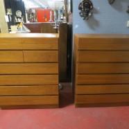 SALE! Vintage Danish modern pair of teak chest of drawers – $295 each
