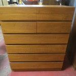 SALE! Vintage Danish modern teak chest of drawers – $295