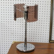 Vintage mid-century modern chrome and Lucite desk lamp – $75