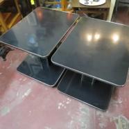 Vintage pair of Art Deco side tables – $65 each