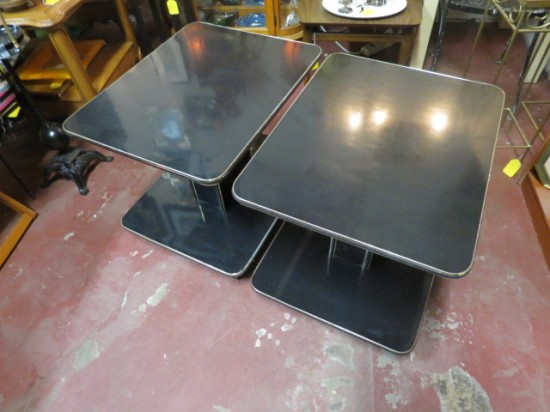 Vintage pair of Art Deco side tables – $65 each