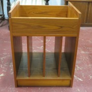 Vintage Danish modern teak stereo/record stand – $125