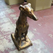 Vintage gilded greyhound dog sculpture – $75