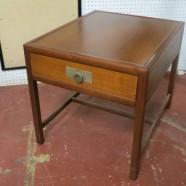 Vintage mid-century modern Baker walnut side table – $125