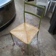 Vintage mid-century modern Gio Ponti superleggera occasional chair – $160