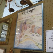 Vintage mid-century modern Chicago poster – $25