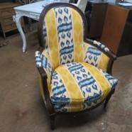 Vintage antique Baker Louis XVI style mahogany armchair – $295
