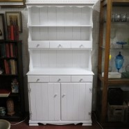 Vintage antique 2 pc. Painted china hutch – $179