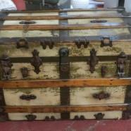 Vintage antique steamer trunk – $160