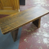 Vintage reclaimed wood bench – $185