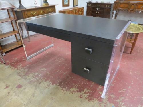Vintage mid century modern lucite executive desk – $795