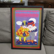Vintage Mid Century Modern Colorful Print by Victor Moscoso – $150