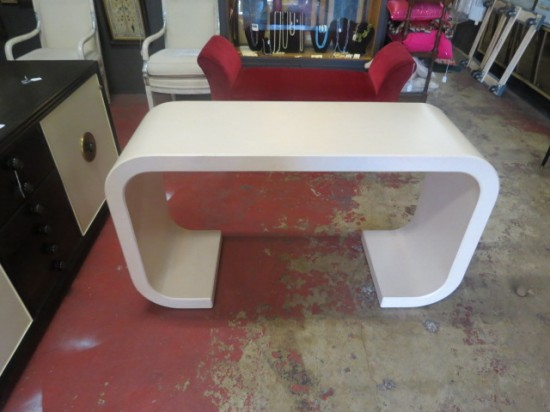 Vintage Mid-Century 70′s Karl Springer Style Console/Sofa Table – $495