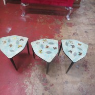 SALE! Vintage Mid-Century Modern Set of 3 Butterfly Stacking Tables – $90