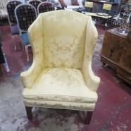 Vintage Antique Wingback Armchair – $250