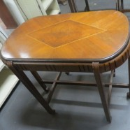 SALE! Vintage Antique Art Deco Walnut Side Table – $95