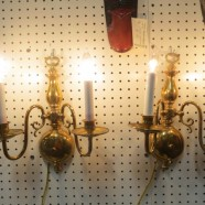 Vintage Antique Pair of Brass 2 Arm Sconces – $295 for the pair