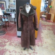 Vintage Brown Long Shearling Coat by Lawrence – $100
