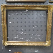 Vintage Antique Large Carved Wood and Gesso Gilded Picture Frame – $165