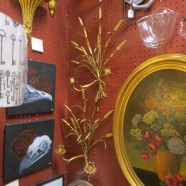 Vintage Antique Pair of Gilt Metal Italian Wheat Candle Sconces – $245