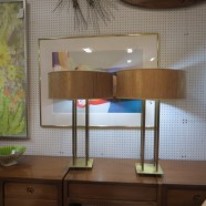 Vintage Mid-Century Modern Tommi Parzinger Style Pair of Brass Lamps – $845