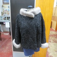 Vintage Persian Lamb Jacket with Mink Collar and Cuffs – $45