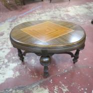 Vintage Art Deco Walnut Small Coffee Table – $150