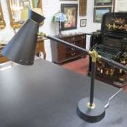 Vintage Mid-Century Modern Italian Metal Desk Lamp – $165